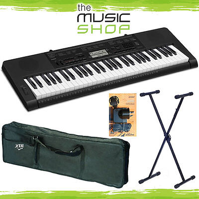 Casio CTK3200 Electronic Keyboard with Stand, Bag, Power Supply & Touch Response
