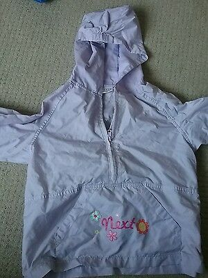 girls pac a mac rain coat from next 4 years excellent condition