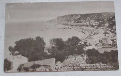 GWR Official Postcard Series 4 Oystermouth Bay by Great Western Railway Swansea