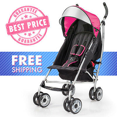Summer Infant 3D Lite Convenience Stroller - Hibiscus pink - free ship