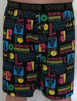 Mens Licensed Star Wars Sleep Shorts Sleepwear Pyjama Poly Cotton Size Medium