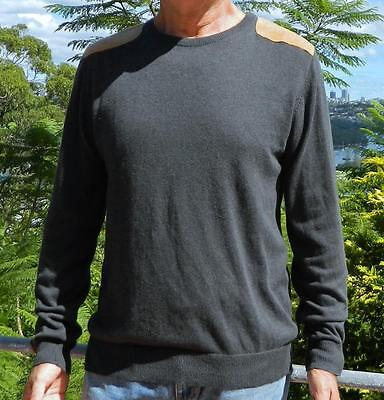 VINTAGE River Island Stylish Casual Shoulder Patch Crew Neck Sweater