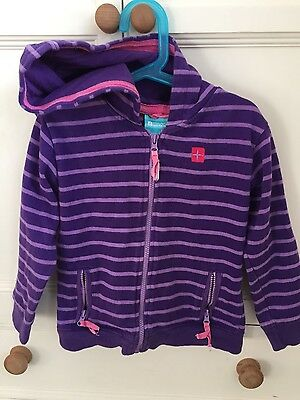 Mountain warehouse girls purple zip hoodie age 5-6 years