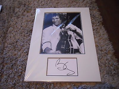 Brian May Mounted Autograph
