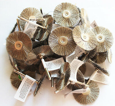 """36pcs Wire Brush Wheel 1.5"""" Fits Dremel Rotary Tool for Cleaning Removal"""