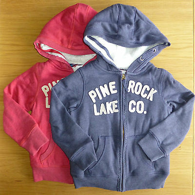 Bnwt Girls Next Blue Pine Rock Hooded Top 4 Years Super Warm! Rrp £21