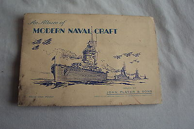 """Player's Cigarette Cards in officiall album - set of 50 - """"MODERN NAVAL CRAFT"""""""