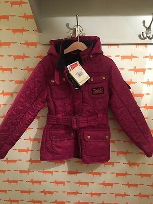 Brand New Children's Barbour Int. Girls Viper Quilt Jacket Fleece Lined Small