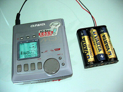 Aiwa AM-F80 Portable MiniDisc Player MD Recorder with AA Battery Holder Grey