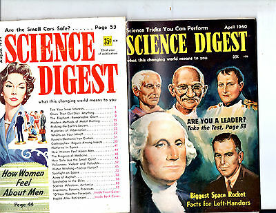 Lot Of 9 1959-1960 Science Digest Magazines-Changing World- Vintage-Rare