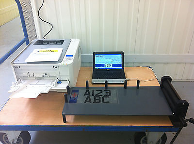 Brand New Numberplate Machine Printer Software Business Equipment