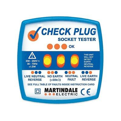 Martindale CP501 Check Plug Socket Tester Check the Safety of Your Plug Sockets