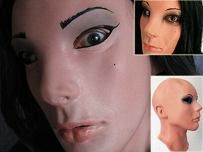 LIV LOLITA MASK - Real. Female Latex, Frauenmaske, Second Skin, Rubber Doll Face