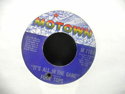 """Four Tops """" It`s All In The Game """" Usa Motown Ex Cond."""