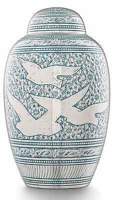 Adult Cremation Ashes Urn Large Funeral Memorial Remembrance Blue Flying Bird