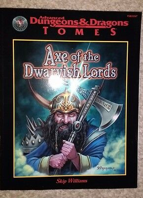 AD&D Axe of the Dwarvish Lords Skip Williams Dungeons & Dragons Tomes TSR 11347