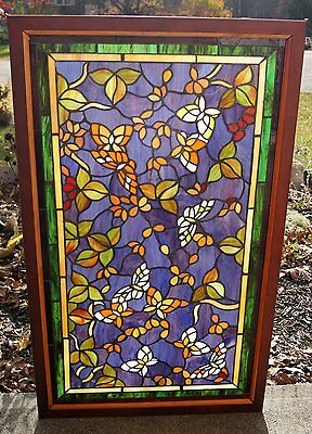 Tiffany Style Stained glass window panel