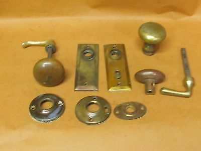 Lot of Vintage Brass Screen Door Pulls/ Handles Parts
