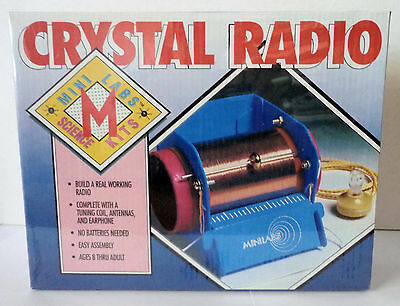 CRYSTAL RADIO by Mini Labs Science Kits - Build a Real Working Radio!  - NEW