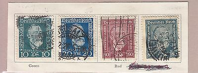 Germany 1924 Set Of 4 Stamps Used