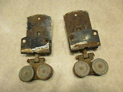 Set Of 2 Vintage  Barn Door Rollers, Vintage  Farm Barn Trolley
