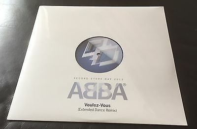 """Abba - Voulez Vous - Blue Glitter RSD  12"""" Vinyl - New And Sealed ."""