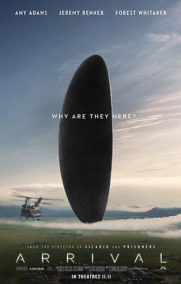 ARRIVAL MOVIE POSTER 2 Sided ORIGINAL 27x40 AMY ADAMS JEREMY RENNER