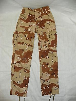 Desert Storm 6 Color Chocolate Chip BDU Pants X-Small Regular 50/50  Washed DCU