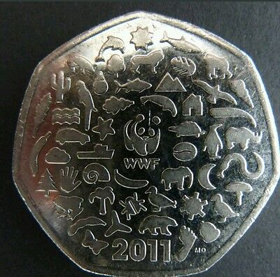 2011 WWF 50p Fifty Pence Coin RARE
