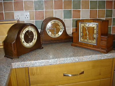 Three Westminster chime mantle clocks