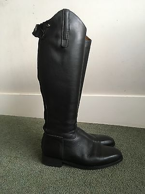 Rectiligne Size 6 Black Leather Long Riding Boots NOW REDUCED!