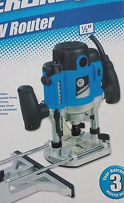 "Silverline 1500W 1/2"" Plunge Router Cutter Electric 240V"