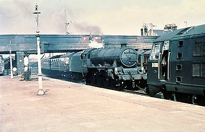 Steam Railway Colour Slide Jubilee 45730 + D6108 Stirling May 1961