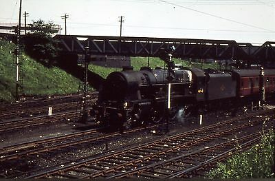 Steam Railway Colour Slide 46148 The Manchester Regiment Carstairs 1963