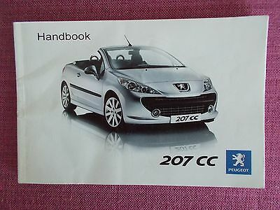 Peugeot 207 Cc Coupe/cabriolet Owners Guide - Handbook - Owners Manual (Pe 1019)