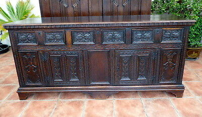 Large Country Oak Carved Dresser Base 1750  Free Shipping