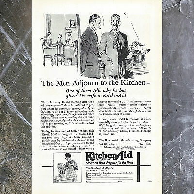 Sexist Vintage 50's Kitchenaid Ad, 1950's Original Print Ephemera Art