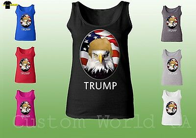 f743c340c4e1fd President Donald Trump American Eagle and Flag Tank Top Funny Unisex Tee
