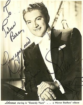 "LIBERACE ""Sincerely Yours"" Original Vintage HANDSIGNED Photo 1955"
