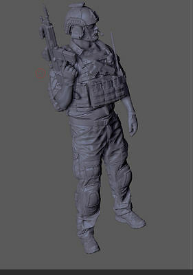 Special Forces operator 120mm scale 1/16