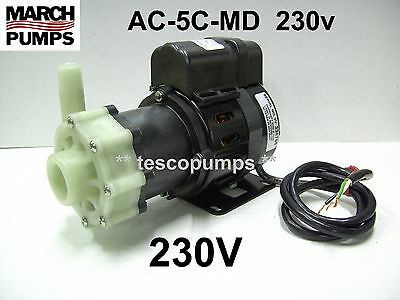 March pump  AC-5C-MD  230v  1020 gph   Replacement pump for Cruisair PMA1000C
