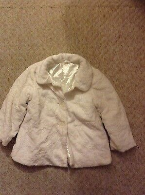 brand new mothercare fur floral winter party  girls coat 2-3 years