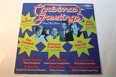 Christmas Greetings From The Stars - LP Capitol Beach Boys Nat King Cole u.a.