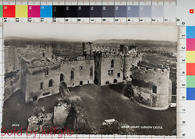 Inner Court Ludlow Castle, Wales real photo postcard