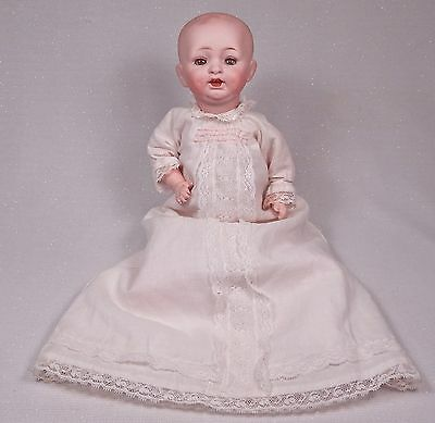 """Antique German Character Baby Doll 10"""" Solid Dome Bisque Head"""