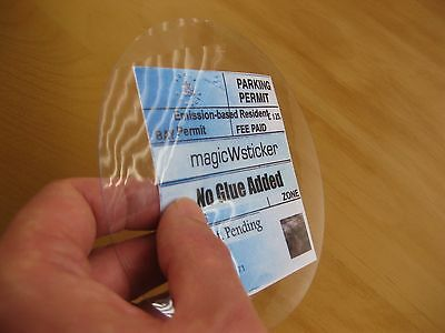 Windscreen magicWsticker Static Parking Permit Holder No glue Added