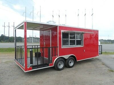20ft Enclosed Concession Stand Mobile Kitchen food vending BBQ Trailer Loaded