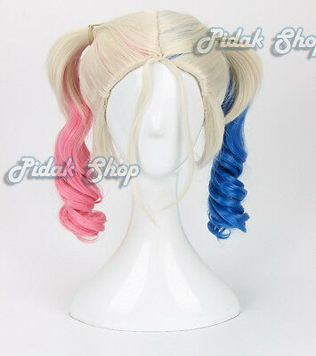 parrucca harley wig quinn cosplay nuova wig 2 hair fake costume part new