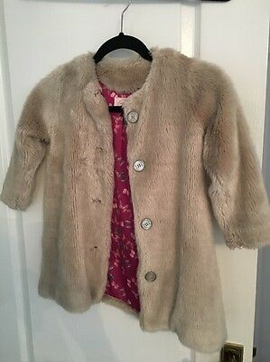 Ted Baker Faux Fur coat Age 4yrs