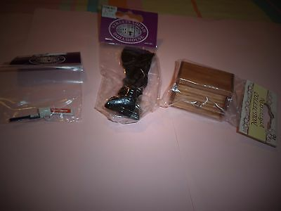 Trio Of Dolls House Accessories